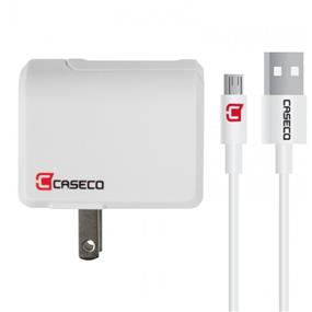 Caseco - Pulse - Smart Wall Charger with 1 Meter USB-C Cable (Up To 3 Amps)