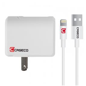 Caseco - Pulse - 2.4A Wall Charger with 1 meter Apple Certified Lightning Cable