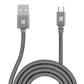 Caseco Nylon Braided Micro USB Cable - 2 Meter - Space Gray