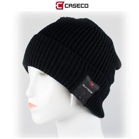 Caseco Blu-Toque - Bluetooth Beanie - Chunky Cuff - Black