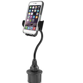 "Macally 8"" Long Adjustable Automobile Cup Holder Mount for Smartphones and most GPS"