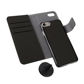 LBT 3 in 1 case - Wallet Case, Form Fitted Case & Magnetic Car Mount for iPhone 6/6s/7/8 - Carbon Black