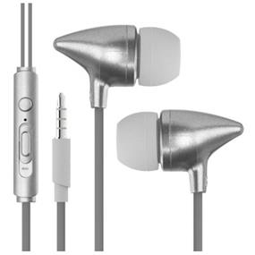 Caseco In-Ear Sono Headphones with Mic and Volume control - Silver