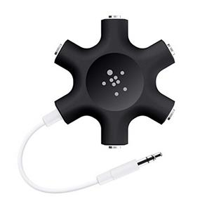 Belkin RockStar 5-Jack 3.5 mm Audio Headphone Splitter - Black
