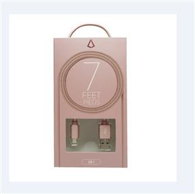 LBT Micro USB 7 ft Rose GoldCable with Metal Connector