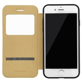 Baseus Simple Series Leather Case iPhone 7 Black(LTAPIPH7-SM01)