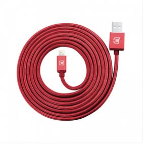 Caseco Premium Braided Lightning Cable - 2 Meter - Red