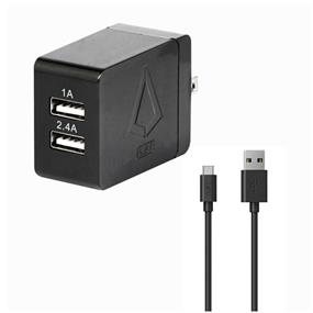 LBT 3.4AMP Dual Port Wall Charger w/ 5 Feet USB-C Cable