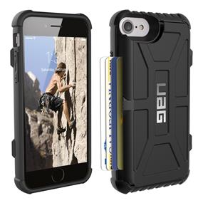UAG iPhone 7 Black/Black (Trooper) Card case