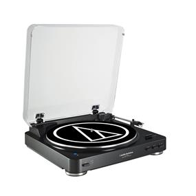 Audio Technica AT-LP60BK-BT - Fully Automatic Bluetooth Wireless Belt-Drive Stereo Turntable