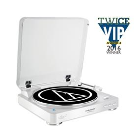 Audio Technica ATLP60WHBT - Fully Automatic Bluetooth Wireless Belt-Drive Stereo Turntable