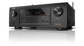 Denon 7.2 Channel 4K HDR Receiver with Bluetooth and WiFi
