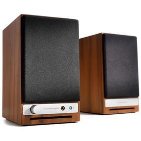 Audioengine HD3 2-Way Wireless Bookshelf Speakers (Pair, Walnut)
