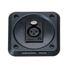 Audio-Technica AT8646QM Shock Mount Plate with Isolating Rubber Panel for Pulpits, Lecterns and Conference Tables - XLR Female Connector Mount