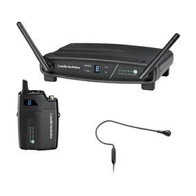 Audio-Technica ATW-1101/H92 System 10 Digital Wireless Headworn Condenser Microphone Set (Black)