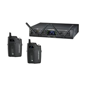 Audio-Technica ATW-1311 System 10 PRO Rack-Mount Digital Dual UniPak Transmitter System (2.4 GHz)
