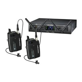 Audio-Technica ATW-1311L System 10 PRO Rack-Mount Digital Dual Lavalier Mic System (2.4 GHz)