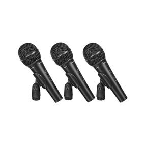 Behringer Ultravoice XM1800S - Dynamic Cardioid Vocal and Instrument Microphones (Set of 3)