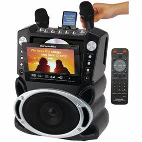 "Karaoke USA GF839 - Karaoke System with 7"" TFT Color Screen & Record Function"