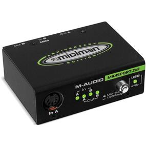 M-Audio MIDISPORT 2x2 Anniversary Edition - 2-in/2-out USB Bus-Powered MIDI Interface