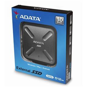 ADATA SD700 512GB Black USB 3.0 Durable External SSD (ASD700-512GU3-CBK)