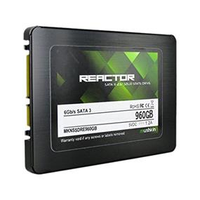 """Mushkin Reactor 960GB 2.5"""" SATA III Max Seq.Read:560MB/s, Max Seq.Write: 460MB/s Internal Solid State Drive (SSD) (MKNSSDRE960GB)"""