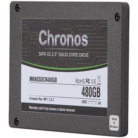 Mushkin Chronos 480GB SATA 6Gb/s Solid State Drive , Read: 540MB/s, Write: 430MB/s (MKNSSDCR480GB)