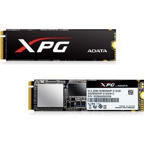 Adata XPG SX8000 M.2 2280 NVMe 512GB SSD ATTO Seq Read: 2400 MB/s, ATTO Seq Write: 1000 MB/s (ASX8000NP-512GM-C)
