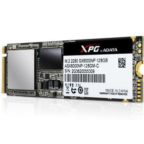 Adata XPG SX8000 M.2 2280 NVMe 128GB SSD ATTO Seq Read: 1000 MB/s, ATTO Seq Write: 300 MB/s (ASX8000NP-128GM-C)