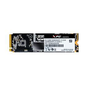 ADATA XPG SX8000 with Heatsink 512GB M.2 2280  PCIe Gen3x4 NVMe Read: 1400MB/s; Write: 1000MB/s Solid State Drive (ASX8000NPC-512GM-C)