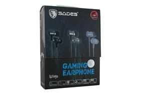 SADES Wings Bass Stereo Gaming/Smart Phone/Laptop/Tablet Earbud with Mic and Remote Control (Carbon Black)
