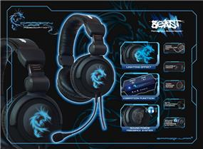 Dragon War G-HS-002 Virtual 5.1 Surround Gaming Headset with Detachable Mic and Vibration