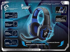 Dragon War G-HS-005 Virtual 7.1 Surround Gaming Headset with Detachable Mic