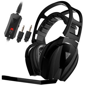 GAMDIAS Eros Elite 3.5mm Stereo Gaming Headset Built-in Aluminum Heat sink Cooling Featherweight Headband 50mm Drivers -Compatible with PS4 (GHS3600)