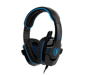SADES GPower PC Gaming Stereo Headset, Blue/Black