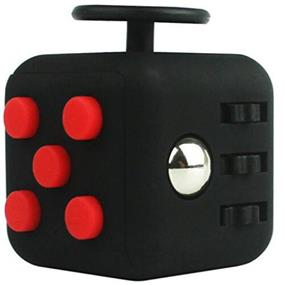 Fidget Cube Stress Relief Toy - Black/Red