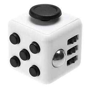 Fidget Cube Stress Relief Toy - White/Black