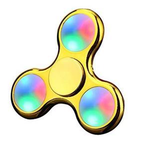 Fidget Spinner Stress Relief Toy LED Light - Plating Gold