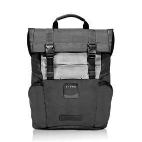 Everki Roll Top Laptop Backpack, 15.6in - Black