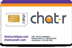 Chatr SIM Card - Not Nano/Micro