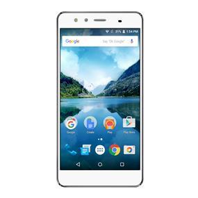 """FiGO Atrium 5.5"""" Dual Sim Unlocked 4G LTE Smartphone – White"""