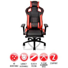 Thermaltake Tt eSports GTF 100 Gaming Chair / GT Fit Series (Black & Red)