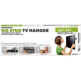 Hangman No Stud TV Hanger 26 - 55 inch Flat TV - Black Anodized (HANG-S2040-A)