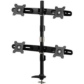 "Amer Mounts Grommet Based Quad Monitor Mount for four 15""-24"" LCD/LED Flat Panel Screens"