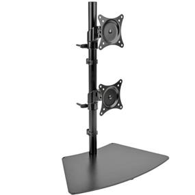 Tripp Lite Dual Vertical Desk Mount Monitor Stand Swivel Tilt Rotate 15-27in DDR1527SDC