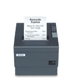 Epson TM-T88IV ReStick Liner-Free Label Printer (58mm, On Board USB/DB9 Serial Interfaces with PS180) - Color: Cool White
