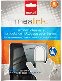 Maxell MaxLink 6PK Scren Clean& Cleaner In One