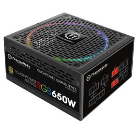 Thermaltake Toughpower Grand RGB 650W 80 Plus Gold Certified Full Modular Power Supply (PS-TPG-0650FPCGUS-R)