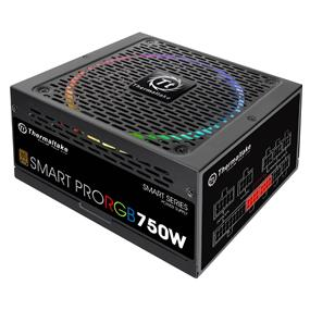 Thermaltake Smart Pro RGB 750W 80 Plus Bronze Certified Full Modular Power Supply (PS-SPR-0750FPCBUS-R)