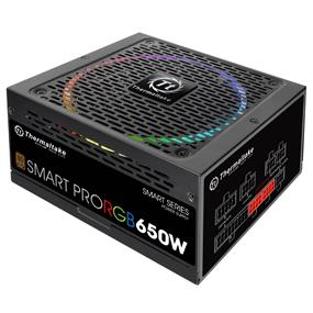 Thermaltake Smart Pro RGB 650W 80 Plus Bronze Certified Full Modular Power Supply (PS-SPR-0650FPCBUS-R)